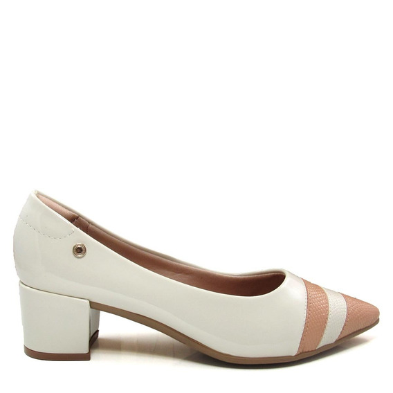 Scarpin Bico Fino Feminino Salto Grosso Olfer Shoes 1238-006