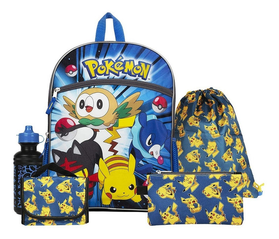 Nintendo Pokemon Set De Mochilas Escolar Niños