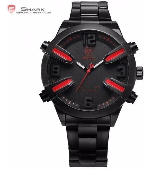 Relógio Esporte Shark Dogfish Sh320 Dual Time Led Masculino