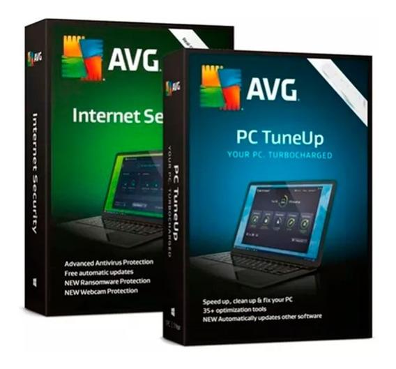 Antivirus Avg Internet Security- Tuneup 5 Pc - 2 Años