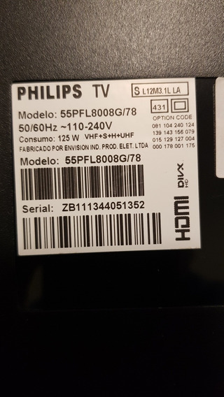 Tv Philips 55 Pol. Ambilight