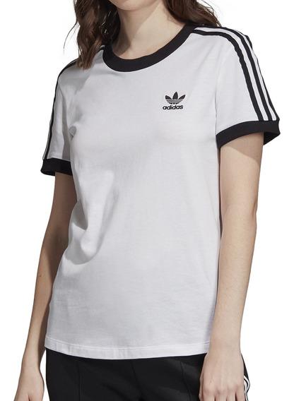 Remera adidas Originals Moda 3 Str Tee Mujer Bl/ng