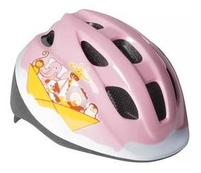 Capacete Infantil Para Bike Bicicleta Cor Azul E Rosa