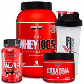 100% Pure Whey + Bcaa + Creatina + Shaker - Integral Médica