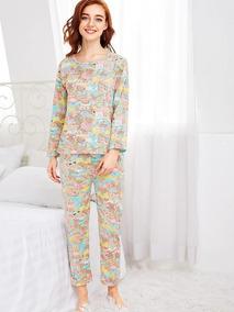 Conjunto De Pijama Con Impresión De Osos