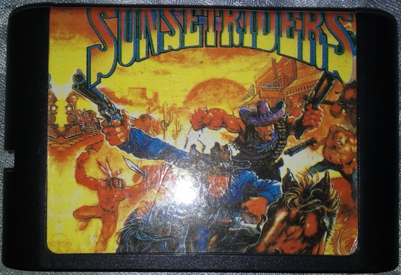 Cartucho Mega Drive - Jogo - Sunset Riders - Paralelo