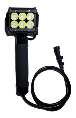 Lanterna Led Silibim Tático Profissional Sl1800+cabos Brinde