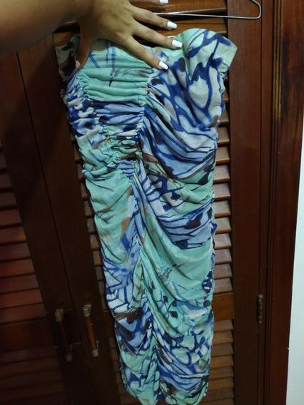 Vestido Corto Leopardo Azul Bershka