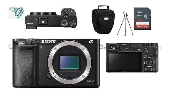 Sony A6000 Corpo + Bolsa+tripé+cartão 64gb - Nfe