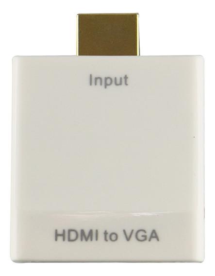 Conversor Adaptador Hdmi Para Vga + Audio P2