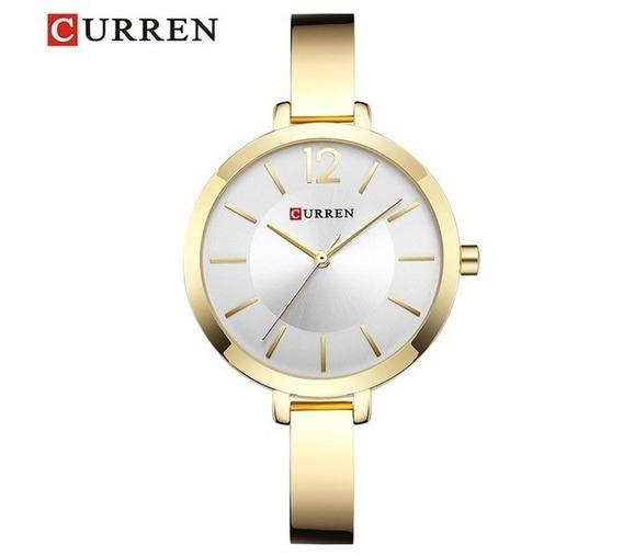 Relógio Feminino Curren 9012 Quartzo Luxo Original