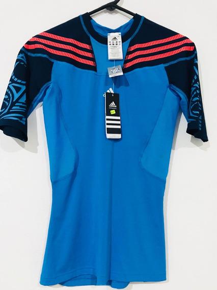 Playera Marca adidas Tech Fit Azul Tribal