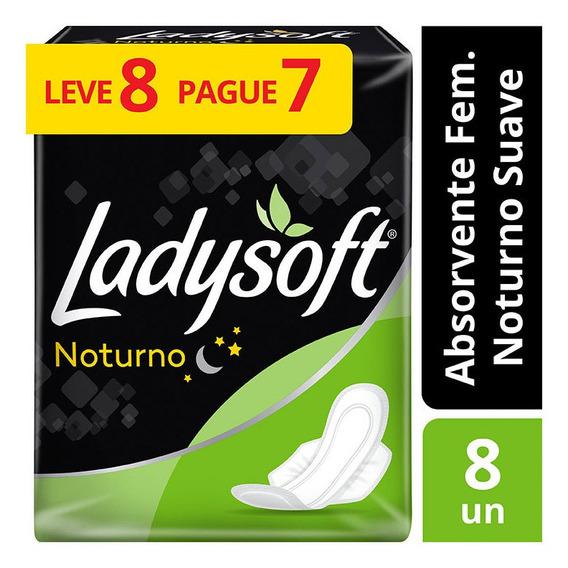 Absorvente Ladysoft Noturno Suave Com Abas Leve 8 Pague 7