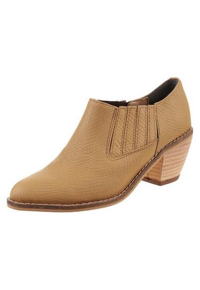 Zapato Texana De Cuero Suela