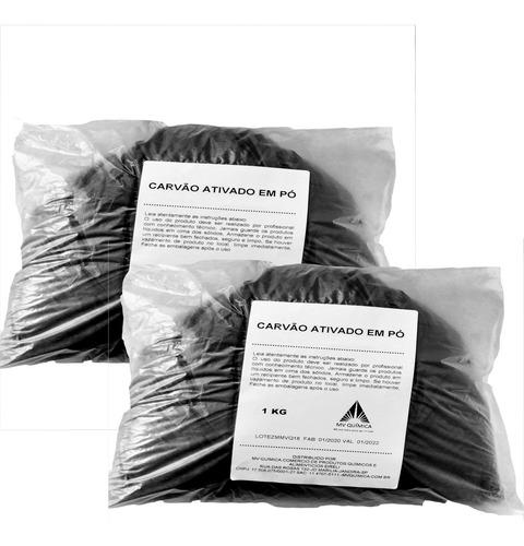 Carvão Ativado Em Pó 1kg X 2 Unidades = 2kg