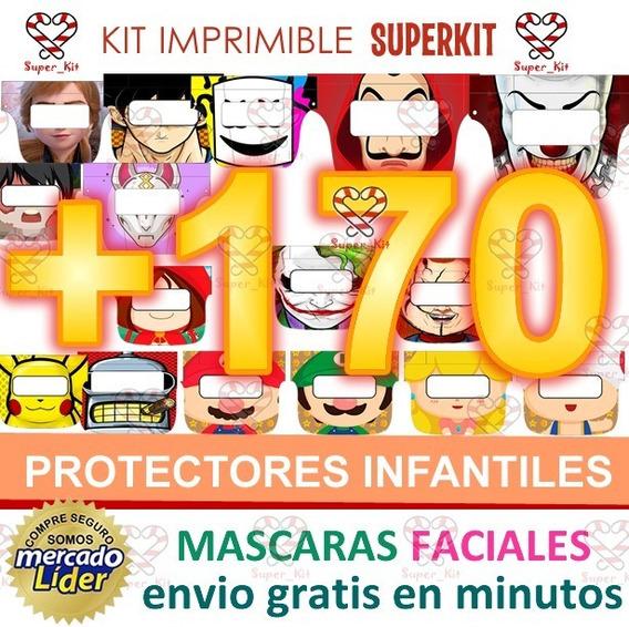 Kit Imprimble Protector Facial Mascara Infantil Mega Pack