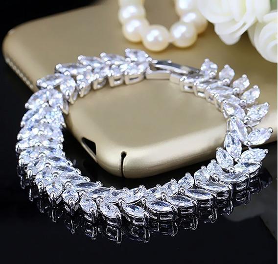 Pulseira Feminina Esposa Namorada Noiva Casamento Joia C1038