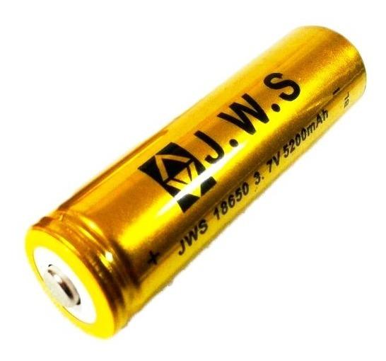Kit 10 Bateria 18650 5200mah 3.7v Recarregável Lanterna Led