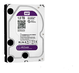 Disco Duro Dd 1tb Sata Wd Purple Wd10purx/z Optimizado Para