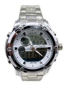 Relógio Masculino Analógico E Digital Prata