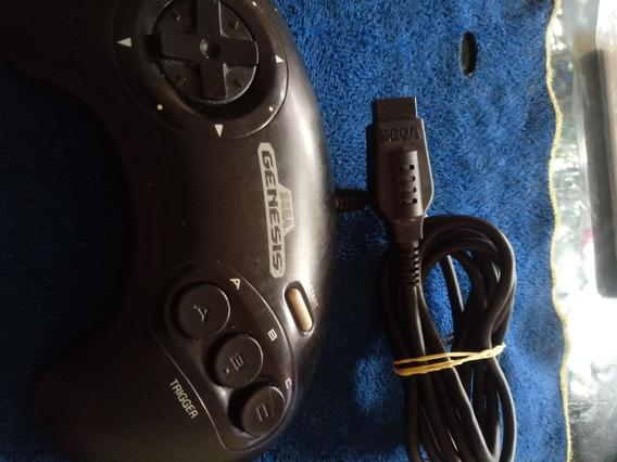 Controle De 3 Botões Do Mega Drive Genesis Original
