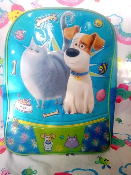 Mochila Para Niño U Niña La Vida Secreta De Tus Mascotas