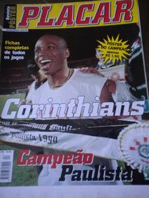Corinthians Poster Gigante Placar Campeão Paulista 1999