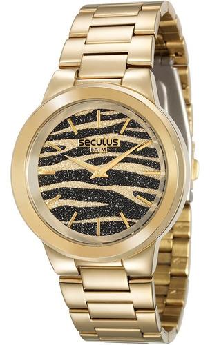 Relógio Feminino Seculus 2 Anos De Garantia 28770lpsvda1