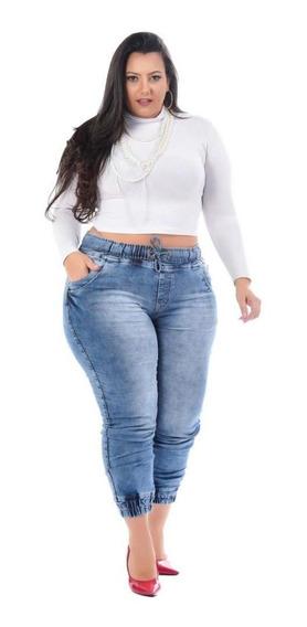 Calça Jeans Feminina Plus Size Jogger Sumiko