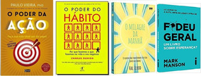 O Poder Do Hábito + Fodeu Geral + O Poder Da Ação + 1 Livro