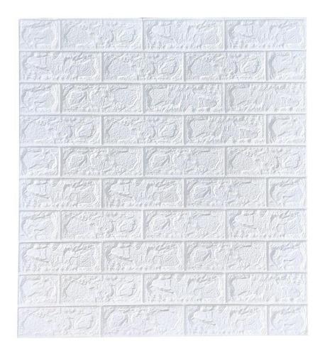 Imagem 1 de 3 de Painel 3d Tijolo Branco Auto Adesivo 70 X 77 Cm