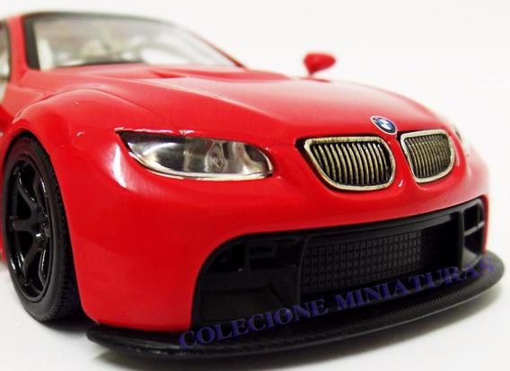 Miniatura Bmw M3 Gt2 2009 Vermelha Rmz Escala 1:32