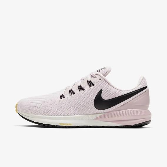 Tênis Nike Air Zoom Structure 22 Feminino - Rosa / Preto