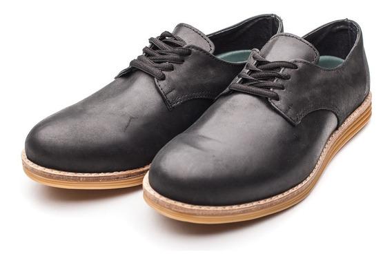 Zapato De Hombre Cuero Negro Base Beige