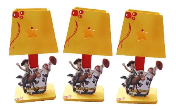 10 Lamparas Personalizadas Toy Story Buzz Woody Centro Mesa