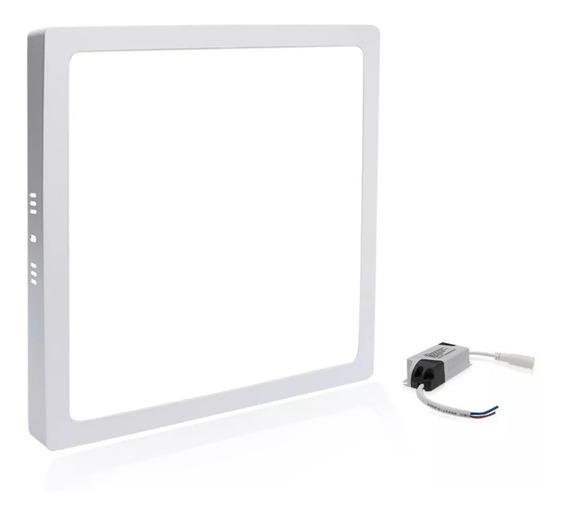 Led Painel Plafon Sobrepor 36w 40x40 Quadrado Branco Frio