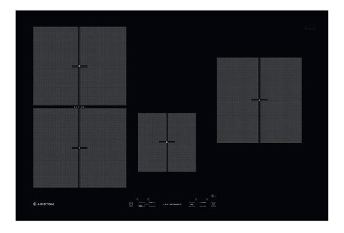 Imagen 1 de 10 de Anafe Ariston Nis 841 F B Aus 80cm Vitro Induccion 4 Zonas T
