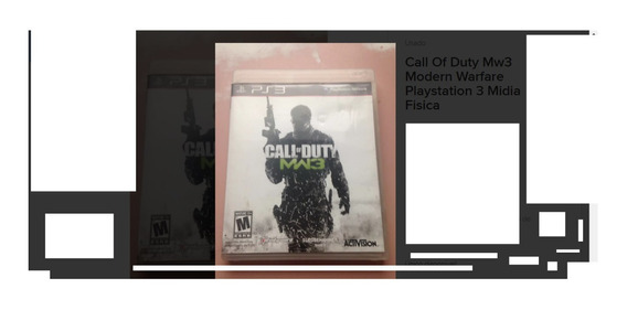Call Of Duty Mw3 Modern Warfare Playstation 3 Midia Fisica