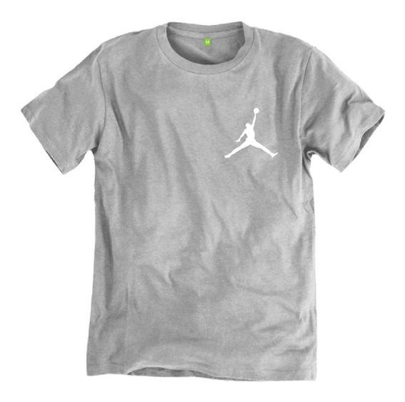 Camiseta Básica Masculina Manga Curtas Air Jordan Cotton