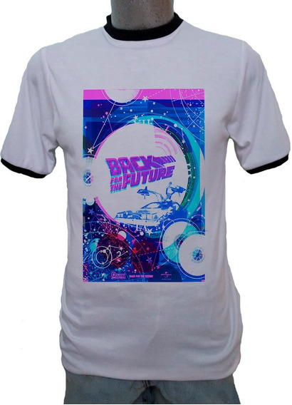 Playera Ringer Back To The Future 80s