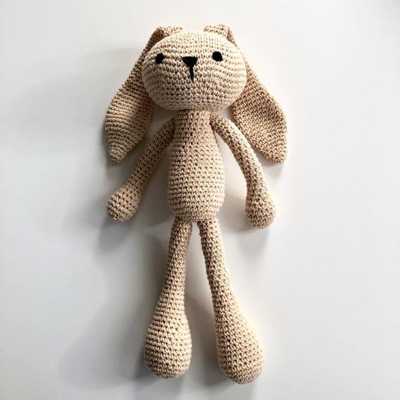Coneja Amigurumi 36 Cms Tejido Crochet Apego Patas Largas