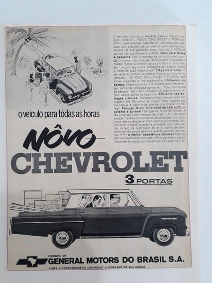 Propaganda Antiga Novo Chevrolet 3 Portas Raro Coleção