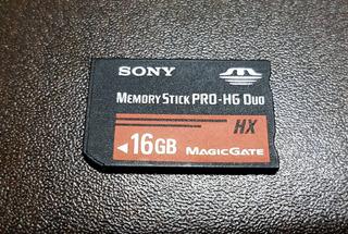 Cartão 16gb Ms Memory Stick Pro Hg Duo Hx