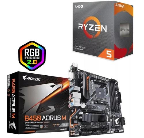 Kit Upgrade Amd Ryzen R5 3600 + Gigabyte B450 Aorus M
