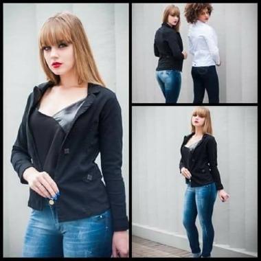 Blazer Jeans Feminino - Knoten Jeans Cod. 621800.01