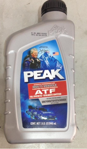 Aceite Transmisión Automática  Atf Peak 1l Sintético