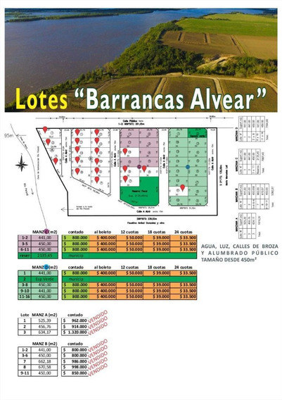 Lotes En Puerto Alvear! Barrancas De Alvear!