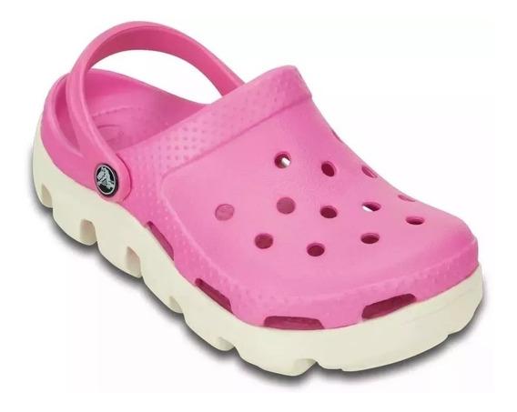 Sandalias Crocs Originales Duet Sport Clog Zuecos Mujer Pink Rosa Hombre Azul