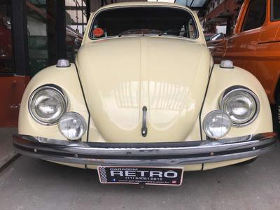 Vw Fusca 1.300l 1977 Bege Alabastro Garagem Retrô