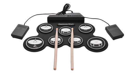 Set De Batería Electrónica Usb Digital Compacta Enrollable